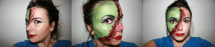 Jekyll and Hyde Face Paint/ Special Effects by Uberkayt