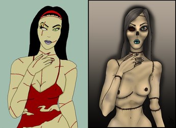 Zombie - Before and after by Shadowglove