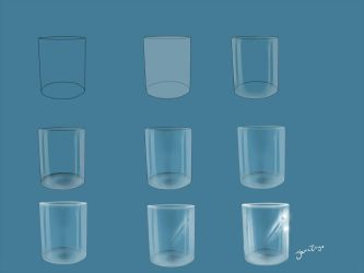 Practice with me: Glass - Step by step by JoanaTiago