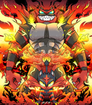 The Fire Tiger from the Lava Plains. by Dragonfoxgirl