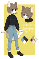 / sarah / commission ref sheet / by catteenager