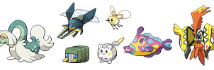 New 7 Alola Pokemon Sprites