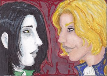 Lestat and Louis ACEO by RaShan