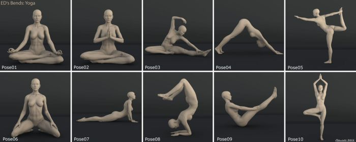 Freebie: ED's Bends Yoga by Edheldil3D