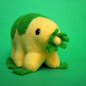 Yellow and green tardigrade by WeirdBugLady