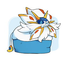 Solgaleo in a Box by HappyCrumble