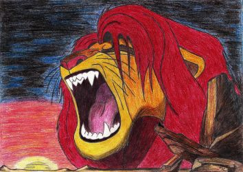 Simba-King of the Pridelands by AnsticeWolf