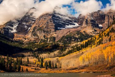 Clouds over the Maroon Bells by JessicaDobbs