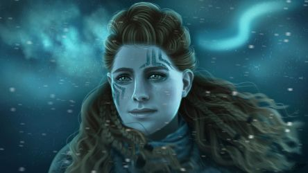 The Frozen Wilds - Aloy (night version) by ElyGraphic