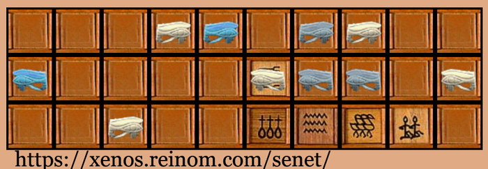 Online Senet game by DragonsTEQ