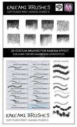 Kakeami brushes Manga Studio 5 and Clip Studio by MissChroma