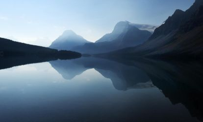 Early light on Bow Lake, Canada by wildplaces