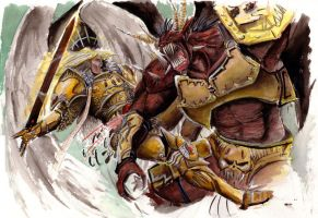 Sanguinus verses Bloodthirster by madscuzzy