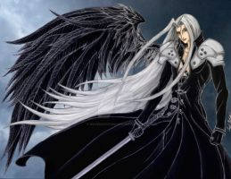 Sephiroth - The One Winged Angel by MaverickTears