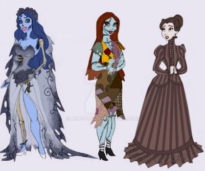 Tim Burton and Disney style by Lily-pily