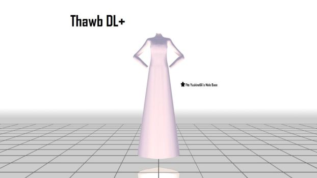 [MMD] Thawb (KSA's Traditional Male Clothes) DL+ by Hazem2017