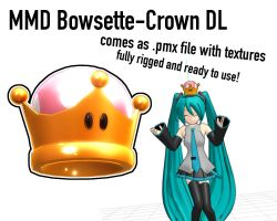MMD Bowsette Crown by Yuzo-MMD
