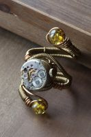 Steampunk adjustable ring by Daniel Proulx by CatherinetteRings