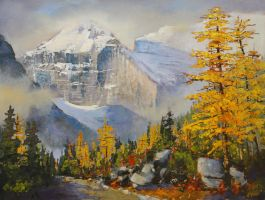 Lefroy and Larches by artistwilder