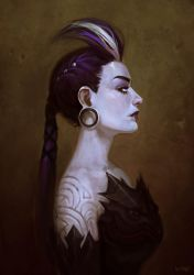 Portrait of Dark Princess by viko-br