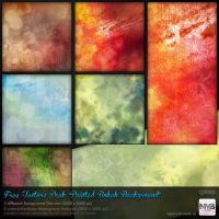 Texture Stock Pack #11 Painted Bokeh Backgrounds by Hexe78