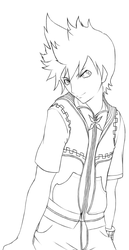 Roxas: Lineart by NeverMindNinpo