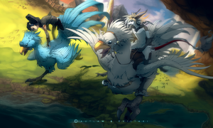 I challenge you to a chocobo race! by EvilTaki