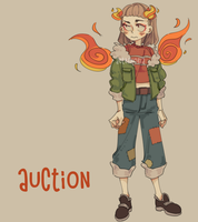 (CLOSE) AUCTION FIRE GIRL by aeternoria