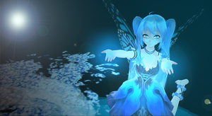 Hatsune Miku Butterfly MMD Desktop Wallpaper by Sparkywor