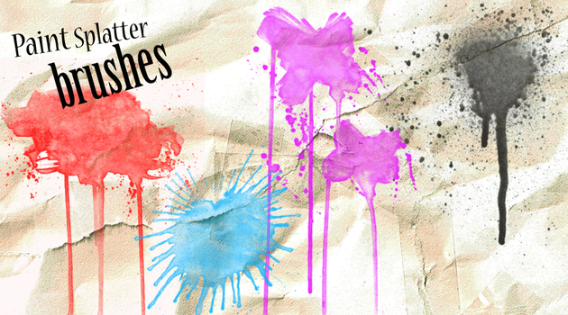 Paint Splat Photoshop Brushes by kizistock