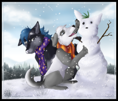 A Snowdog... by ThorinFrostclaw