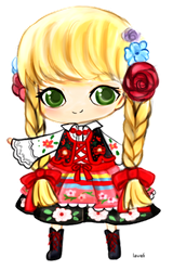 Traditional Polish Dress by lavenly