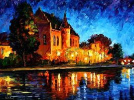 BRUSSELS - CASTLE SAVENTEM by Leonid Afremov by Leonidafremov