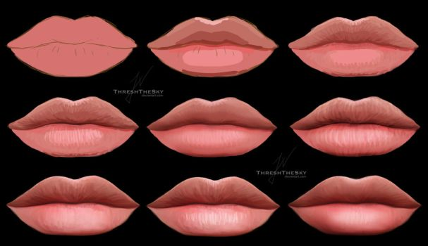 Lips (Painting Steps) by ThreshTheSky