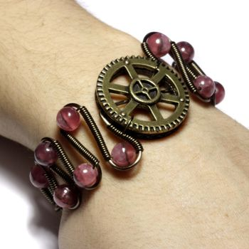 Steampunk Jewelry Inca Rose by CatherinetteRings
