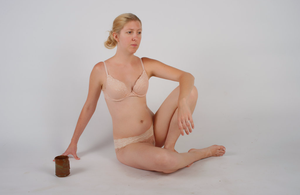 Body Reference - Sitting - Cup on Ground by Danika-Stock
