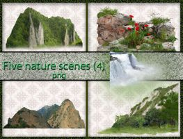 Five nature scenes (4) by roula33