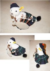 Another Stoat with Kilt and Bagpipes by bifishiar