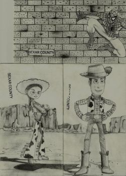 Spidey and toy story by Omnifarius