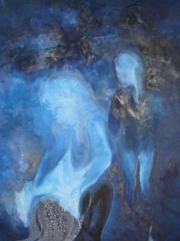 Couple in blue by Sarah-on-Deviantart