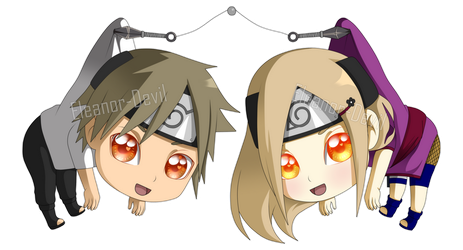 Chibi Keychain | Haruo x Maika by Eleanor-Devil