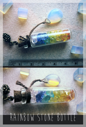 FOR SALE : Rainbow Stone Bottle (closed) by D-Dyee