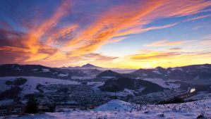 Winter sunset - Orava, Slovakia by jojo0078