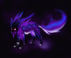 Purple smoke animated by Static-ghost