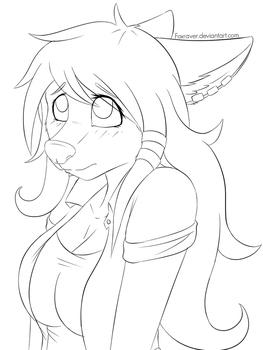 Cute Apologize - Line-Art by FoxRaver