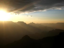 Sunrise at the South Rim by Fireberd904