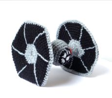 Crochet Tie-Fighter by MysteriousCats