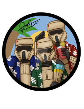 Commission - Shoretroopers on Vacation by Exekiella