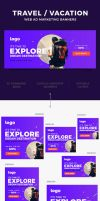 Travel / Vacation Web Ad Marketing Banners by webduckdesign