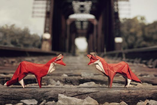 Fox Brothers at the Bridge by FoldedWilderness
